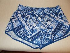 New Danskin Now Womens Size M Blue Multi-Color Shorts with Built In Underwear
