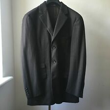 Very cool New York Industrie Made in Italy Brown stripe suit Sx IT 46