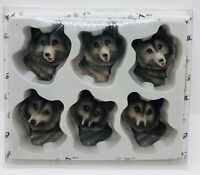 KMC Lot Of 6 Wolf Magnets. New In Packaging