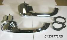 1958 Pontiac All Outside Door Handle with Buttons Pair, C4237772RS