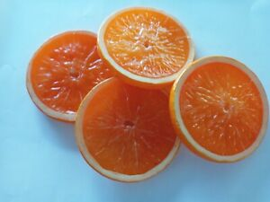 Lifelike Decorative Artificial Orange Slices Fake Fruit Decor weddings