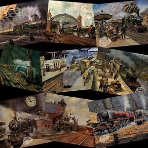 The Golden Age Of British Steam Trains Mid-Century  Nostalgic  Metal Signs