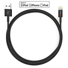Pawtec Lightning to USB Charge and Sync Cable Ultra Slim for iPhone - Black