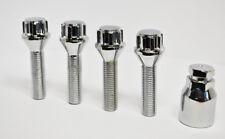4 x M14 x 1.5, 45mm Thread, Locking Wheel Bolts (Zinc)