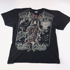 Rebel Cause Rock Legend Graphic T Shirt British Flag Chains Skull 2XL #890