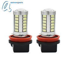 2× Ice Blue H11 H8 33SMD LED Lens Bulbs For Car Driving Fog Lights