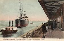 More details for hamburg - american liner prince of wales pier dover unused old pc jws 596