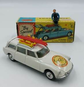 Corgi Toys 475 Citroen Safari Olimpic Winter Sports scatola box vintage die cast