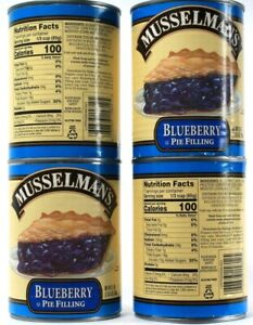 4 Count Musselman's Gluten Free Real Fruit Blueberry Pie Filling 21Oz BB 7-14-22