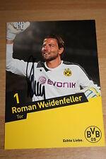Autogrammkarte Roman Weidenfeller Borussia Dortmund BVB 2013/2014, signiert