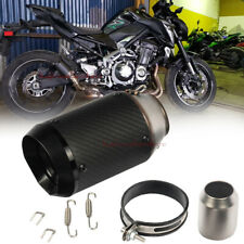 Motorcycle 51mm Slip-On Round Real Carbon Exhaust Muffler For ZX6R Z900