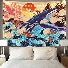Colorful Watercolor Print Tapestry Hippie Wall Hanging Psychedlic Tapestry Decor