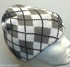 Gray Reversible Poly cotton Knit Beanie Beret Hat Winter Warm Skull Cap