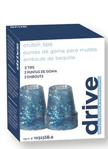 Drive Medical Glow in the Dark Cane Tip, Sparkle Blue, 3/4 Inch( Pack of 2 )