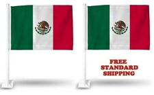 """2 Pack Lot MEXICO MEXICAN World Cup Soccer Car Flag FLAGS CAR WINDOW 18"""" X 12"""""""
