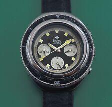 Vintage 70's Zodiac SeaWolf  Chronograph Super Divers Watch Valjoux 72 Movement
