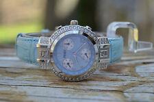 Fendi Orologi Caked Blue Diamond Bezel Chronograph Quartz Ladies Watch - 4500L