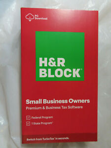 H&R BLOCK 2020 SMALL BUSINESS OWNERS PREMIUM BUSINESS TAX SOFTWARE FEDERAL STATE