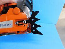HUSQVARNA 455 460 461  CHAINSAW DOG BUMPER SPIKE SET ( POWDER COATED BLACK )