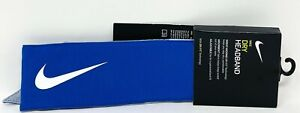 NEW Nike Dry Wide Running Headband DRI-FIT Technology Blue Free Shipping NWT