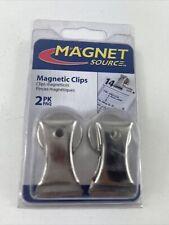 Master Magnetics 18 In Ceramic Magnet Clips Silver 3 Lb Pull 2 Pk 07219 New