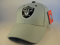 Oakland Raiders NFL Reebok Adjustable Strap Hat Cap Gray
