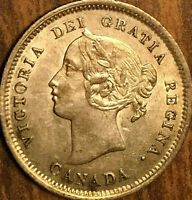 1872H CANADA SILVER 5 CENTS COIN - Fantastic lightly lustrous example!