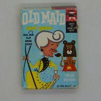 Old Maid Card Game ED-U-Cards Circus Edition 1959 USA Flip Movie Backs 35 Cards