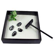 Small Zen Garden Kit - Hematite Tumblestones - Self Belief - Feng Shui