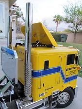 "New Pair 1/2"" Exhaust Aluminum Straight Pipe 1/14 Tamiya Tractor Globe Liner RC"