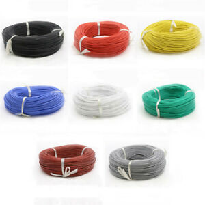UL3239 Flexible Silicone Stranded Cable 18 AWG Electrical Wire 3KV 200°C 8-Color