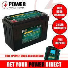 Enerdrive ePOWER B-TEC 12V 125A Lithium Battery w/ FREE DCDC CHARGER