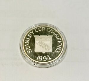 1994 New York Rangers Stanley Cup Champions Coin .999 Fine Silver Round