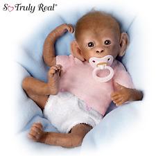 Ashton Drake Coco Poseable Lifelike Baby Monkey Doll By Linda Murray NEW NIB