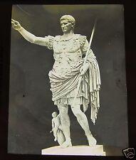 Glass Magic lantern slide STATUE OF AUGUSTUS CAESAR 1890 ITALY ROMAN