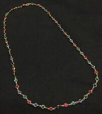 Beautiful Swarovski Multi-Colored Bezel Crystal Long Necklace, Swan Hangtag 34�