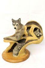 """Mill Creek Studios """"Family Tree"""" Wolves No. 63120 Desiree Hajny Mom & Pups 10.5"""""""