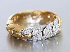 Ring Gold 585 - Kettenring in 14 kt Gold (585) mit 16 Brillanten