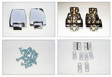 Premium Chrome Tourpak Hinges For Harley  HD 88-13 Razor Chopped King Tour Pack