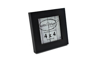 "Square gallery wood picture frame,1"" boarder, many sizes, Color Black"