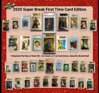 CASE 2020 Super Break First Time Card Edition Box - one Graded Card per BoxOVP Trading Card Umkartons - 261333