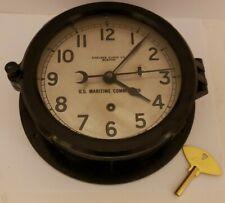 New ListingVintage 1944 Wwii Chelsea Clock Us Navy Bakelite Military Ship Deck Wall Clock