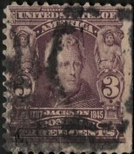 US - 1903 - 3 Cents Violet Andrew Jackson 1902 Series Issue 302 Fine - Very Fine