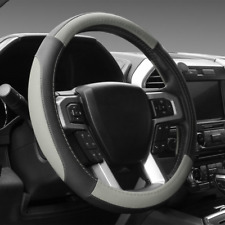 """Gray Microfiber Leather Steering Wheel Cover For Tundra Range Rover 15.5"""" - 16"""""""