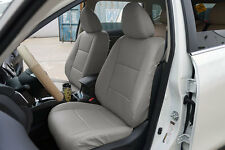 GREY LEATHER-LIKE CUSTOM MADE FIT FRONT SEAT COVERS FOR NISSAN ROGUE 2013-2017