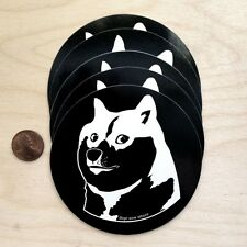 Dogecoin such vinyl sticker wow amaze doge black white so wow amaze such stick