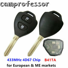 Replacement Remote Key 433MHz 4D67 Chip for Toyota Innova Hilux Fortuner B41TA