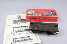 Z614 SMCF train Ho 102 wagon couvert 2 essieux SNCF plastique marron noir notice