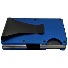 RFID Blocking Slim Wallet Money Clip - Minimalist Wallet Credit Card Holder NEW