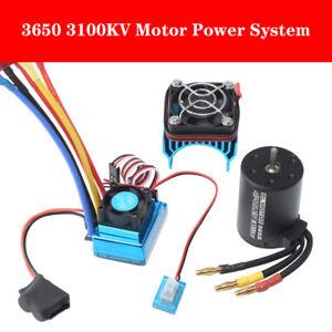 3650 3100KV Brushless Motor & ESC +Heat Sink Power System for 1:8 1:10 RC Car